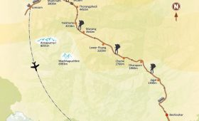 Annapurna Circuit Trek Map